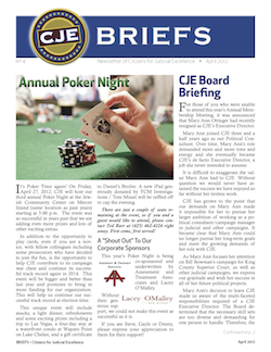 Thumbnail image of CJE Briefs Newsletter for April 2012