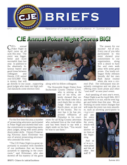 Thumbnail image of CJE Briefs Newsletter for Summer 2012