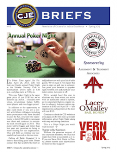 CJE Newsletter - Briefs - Spring 2013